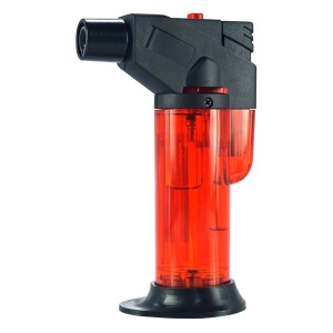 Red Butane Refillable Pocket Blow Torch